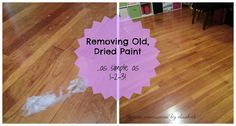 Remove old dried paint from wooden floors.