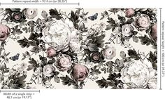 Summer Squall in Daylight White Wallpaper - by Ellie Cashman Design