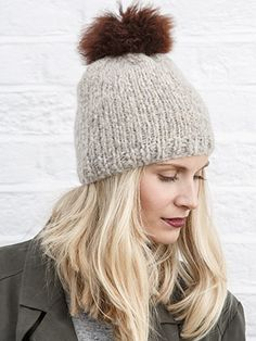 STOCKING STITCH BEANIE from Winter Essential Knits A collection of 12 classic designs for women by Quail Studio. Designed to be an appealing collection where each design is wearable, and can be styled in different ways-completing your essential winter wardrobe | English Yarns http://englishyarns.co.uk/rowan-winter-essential-knits.html
