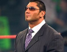 Dave Batista beautiful in a suit