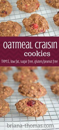Oatmeal Craisin Cookies...THM:E, low fat, sugar free, gluten/peanut free