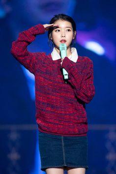 ❤️U Iu Fashion, Korean Celebrities, Kpop, Actors, Hoodies, Concert, Sweaters, Style, Beauty