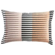 "Nikki Chu By Jaipur Living Chareau Black/Pink Geometric Down Throw Pillow x 24 "" - Orange Linen Pillows, Decorative Pillows, Throw Pillows, Bed Linen, Hand Knotted Rugs, Woven Rug, Down Throw, Jaipur Rugs, Pink Sand"