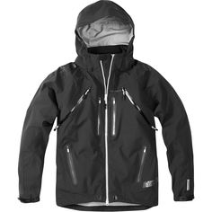 Addict men's 3-Layer waterproof storm jacket, black medium