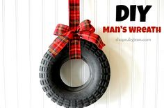 DIY Man's Wreath from Ruby Jean love this for a shed or garage