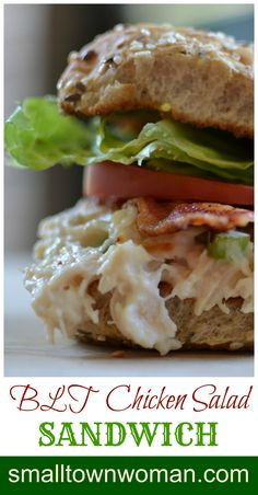 I love chicken salad!  I love BLTs.  Now combine these great sandwiches and life just got as sweet as sugar.