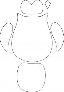 Owl Template printable. Just cut these out for the kids to