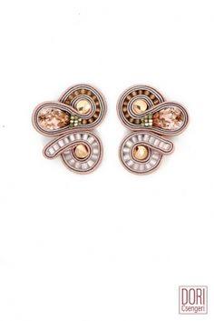 Beverly Hills designer day to evening crystal earrings by Dori Csengeri Small Earrings, Pink Earrings, Crystal Earrings, Clip On Earrings, Wire Jewelry, Jewelry Art, Jewelery, Jewelry Design, Soutache Earrings
