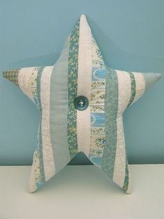 Patchwork star ~ cool throw/accent pillow!