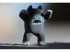 Cute 3D Printed Taz Mania Monster Figurine from Monstermatic (Full Color Sandstone)