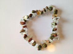 citrine/unakite  healing stone bracelet by zenbabyMama on Etsy, $8.00