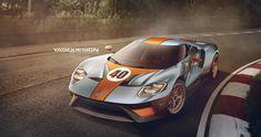 ArtStation - Ford GT - Gulf, Yasid Oozeear
