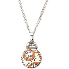 Star Wars VII The Force Awakens BB-8 Cut Out Pendant Necklace ($11) ❤ liked on Polyvore featuring jewelry, necklaces, cut out necklace, pendant necklace and cut out jewelry