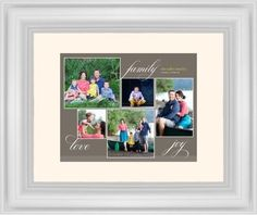 Family Sentiments Framed Print, White, Classic, Cream, Cream, Single piece, 8 x 10 inches, Brown