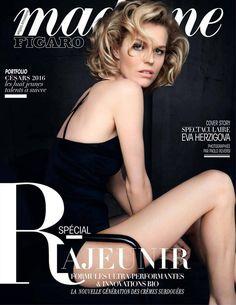 Eva Herzigova in Dior (Madame Figaro January 2016 by Mote Sinabel Aoki)