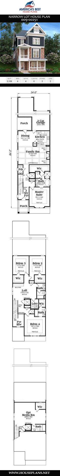 82 Best Narrow Lot House Plans images in 2019 | House plans ... Narrow Lot House Plans With Loft on carriage house plans with loft, ranch house plans with loft, beach house plans with loft, small house plans with loft, guest house plans with loft, cabin house plans with loft, log house plans with loft, craftsman house plans with loft,