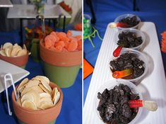 """Insect themed party food - """"dirt in a cup"""""""
