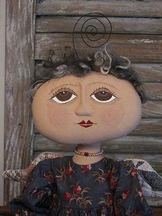 Primitive Folk Art Angel Doll - Quilt Wing