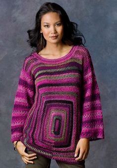 Square Deal Sweater in Red Heart Boutique Unforgettable - LW2872. Discover more Patterns by Red Heart Yarns at LoveCrochet. We stock patterns, yarn, hooks and books from all of your favorite brands.