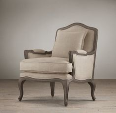 Marseilles Chair.  These are the exact chairs I pinned!  Prices vary, but they are well priced at RH.  Matching ottoman too.