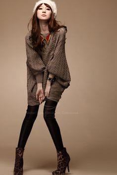 670f96de6c2 Trendy Asymmetrical Batwing Sleeve Knitting Plus Size Sweaters For Women.  O S - Sammy Dress.