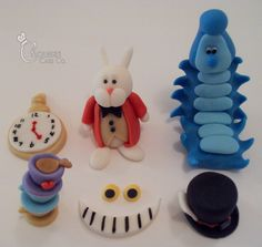 Alice in Wonderland Cupcake Toppers by ChoueiriCakeCo., via Flickr