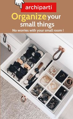 Stop putting your sunglasses, rings, bracelets everywhere! #follow #archiparti ! We'll show you some fascinating ways of organizing your stuff at home, school, college, in your bedroom, closet, dorm, small spaces! Be organized and no need to waste time finding your stuff!