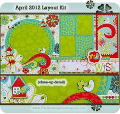 Previous Kits: Monthly Kit Club: Premier Scrapbook Designs: Scrapbook Layout Kits and Card Kits