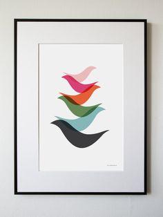 Stacking Birds. $25.00, via Etsy.