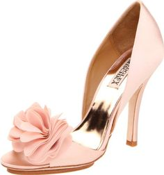 Badgley Mischka Women's Randall D'Orsay Pump,Pink Satin,5 M US