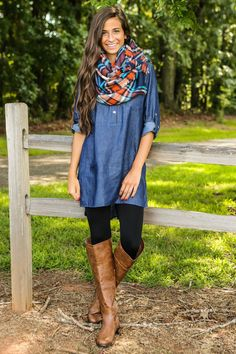 Nashville Bound Dress-Dark Wash - Fall First Look - Shop By Trend | The Red Dress Boutique