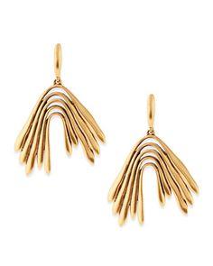 Golden Wave Drop Earrings by Oscar de la Renta at Bergdorf Goodman.
