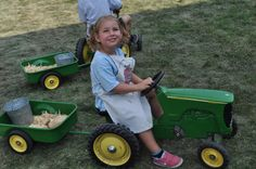 """Everything's little at Little Farm Hands! Where else could your little tykes drive a tractor made just for them?! (From """"Minnesota State Fair Birthday Party"""" as seen on """"Twin Cities Live"""".)"""