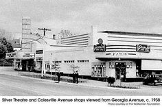 Silver Theater ~ next to Peoples Drug Store on Colesville Road at Georgia Avenue in Silver Spring, MD (c. 1958)