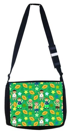 Kids football pattern Rosie Parker Inc. TM Medium Sized Messenger Bag 11.75' x 15.5' and 4.5' x 8.5' Pencil Case SET ** You can get additional details at the image link. (This is an Amazon Affiliate link and I receive a commission for the sales)