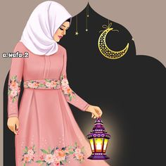 Uploaded by عطرالياسمين. Find images and videos about girl, islam and hijab on We Heart It - the app to get lost in what you love. Hijabi Girl, Girl Hijab, Beautiful Muslim Women, Beautiful Hijab, Muslim Images, Islamic Images, Muslim Women Fashion, Girly M, Hijab Cartoon