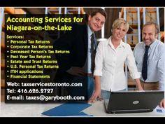 Niagara on the Lake   Accounting Services   416-626-2727   taxes@garybooth.com