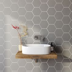 Bathroom Tile Ideas Tile Bathroom Remodel Tags Bathroom with sizing 1200 X 1200 Diy Bathroom Wall Tile Ideas - If you're considering replacing that old Hexagon Tiles, Diy Bathroom, Room Wall Tiles, Best Bathroom Tiles, Bathroom Tile Diy, Amazing Bathrooms, Bathroom Flooring, Bathroom Design, Bathroom Wall