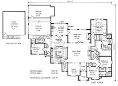 House plans on pinterest floor plans house plans and for Southern louisiana house plans