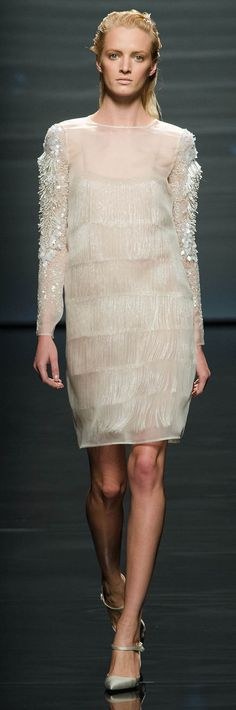 #Alberta Ferretti Spring Summer 2013 Ready To Wear Collection #Trend Fringing 1920's   #Trend Transparent overlay