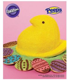 PEEPS 3D Chick Cake with Egg Cookies from @Wilton Cake Decorating Cake Decorating #livelovebake