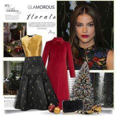 A fashion look from November 2017 by thewondersoffashion featuring Oscar de la Renta, RED Valentino, Erdem, Kayu e Prada