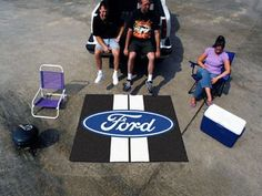 "Ford - Ford Oval with Stripes Tailgater Mat 59.5"""" X 71"""""