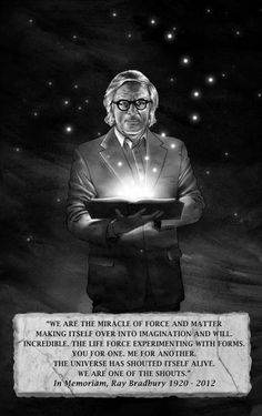 Ray Bradbury is Lori Basile (Kirby)'s 15th cousin once removed!