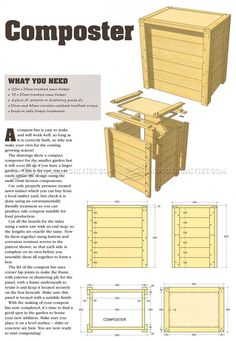 DIY Compost Bin - Outdoor Plans