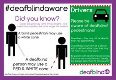 Which cane is which? #deafblindaware #deafblind #infographic   shaz  12/01/14