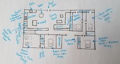 Floor plan for Ben's house, from the book Scratch Track by Eli Lang.