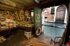 "Libreria Acqua Alta - ""One of the most original libraries in the world is located in Venice. Libreria Acqua Alta, in Calle Lunga Santa Maria Formosa...just a few steps from St Mark's Square."" - (Frizzo [n.d.])"