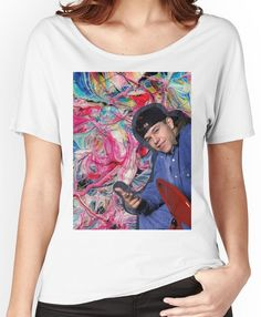 Marky Mark Wahlberg beauty art  Women's Relaxed Fit T-Shirts