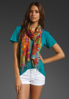 Tolani floral scarf. These colors would add a bright dash to the neutrals in my wardrobe.